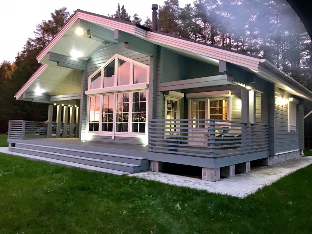 современные дома низкие из клееного бруса фото кэндис одна