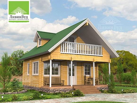 Иматра 81 - Проекты Дома из клееного бруса от компании ЛивинВуд.